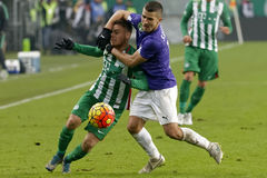 Ferencvaros - Ujpest OTP Bank League football match Royalty Free Stock Images