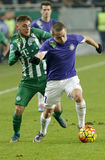 Ferencvaros - Ujpest OTP Bank League football match Royalty Free Stock Photography