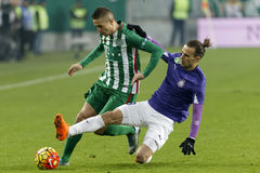 Ferencvaros - Ujpest OTP Bank League football match Royalty Free Stock Photos