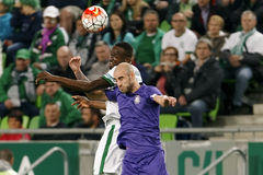 Ferencvaros, Ujpest OTP banka Ligowy futbolowy dopasowanie - Zdjęcia Royalty Free