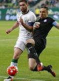 Ferencvaros, Ujpest OTP banka Ligowy futbolowy dopasowanie - Fotografia Royalty Free