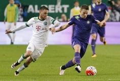Ferencvaros, Ujpest OTP banka Ligowy futbolowy dopasowanie - Fotografia Stock