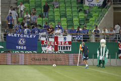 Ferencvaros versus De openingsvoetbalwedstrijd van het Chelseastadion Stock Foto's
