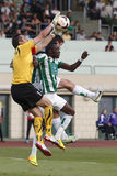 Ferencvaros versus de voetbalwedstrijd van de de Bankliga van Ujpest OTP Stock Afbeelding