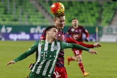 Ferencvaros, Videoton filiżanki kwartalnego finału Węgierski futbolowy dopasowanie - Obrazy Royalty Free