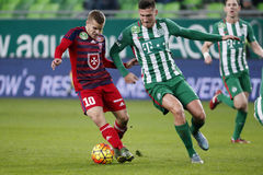 Ferencvaros - Videoton OTP Bank League football match Royalty Free Stock Images