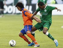 Ferencvaros vs. Aalesund UEFA Europa League match Royalty Free Stock Images