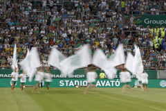 Ferencvaros vs. Chelsea stadium opening football match Stock Photos