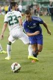Ferencvaros vs. Chelsea stadium opening football match Royalty Free Stock Images