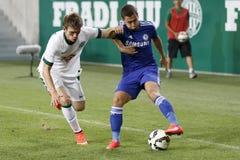 Ferencvaros vs. Chelsea stadium opening football match Stock Photography