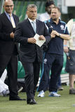 Ferencvaros vs. Chelsea stadium opening football match Royalty Free Stock Photography