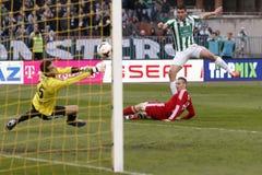 Ferencvaros vs. Debreceni VSC football match Stock Image