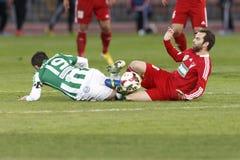 Ferencvaros vs. Debreceni VSC football match Royalty Free Stock Photography