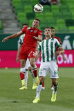 Ferencvaros vs. Dunaujvaros OTP Bank League football match Stock Photo