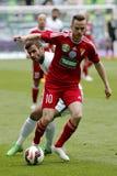 Ferencvaros vs. DVSC OTP Bank League football match Royalty Free Stock Images