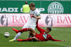 Ferencvaros vs. DVSC OTP Bank League football match Stock Image