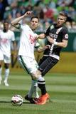 Ferencvaros vs. DVTK OTP Bank League football match Royalty Free Stock Photography