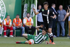 Ferencvaros vs. DVTK OTP Bank League football match Stock Images