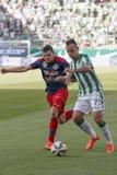 Ferencvaros vs Fotbollsmatch för Nyiregyhaza OTP bankliga Royaltyfri Bild