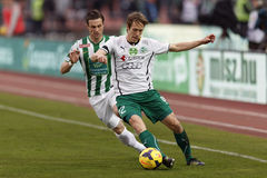Ferencvaros vs. Gyori ETO OTP Bank League football match Royalty Free Stock Photo