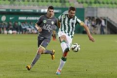 Ferencvaros vs. Haladas OTP Bank League football match Royalty Free Stock Images