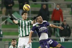 Ferencvaros vs. Kecskemet OTP Bank League football match Royalty Free Stock Photo
