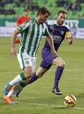 Ferencvaros vs. Kecskemet OTP Bank League football match Royalty Free Stock Photos