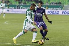 Ferencvaros vs. Kecskemet OTP Bank League football match Stock Image
