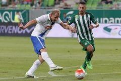 Ferencvaros vs. MTK OTP Bank League football match Stock Photography