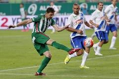 Ferencvaros vs. MTK OTP Bank League football match Stock Images