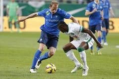 Ferencvaros vs. MTK OTP Bank League football match Stock Photo
