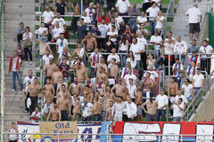 Ferencvaros vs. Nyiregyhaza OTP Bank League football match Stock Image