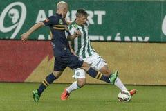 Ferencvaros vs. Puskas Akademia OTP Bank League football match Royalty Free Stock Photography