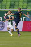 Ferencvaros vs. Puskas Akademia OTP Bank League football match Royalty Free Stock Photography