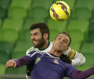 Ferencvaros vs. Ujpest League Cup football match Royalty Free Stock Photo