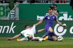 Ferencvaros vs. Ujpest OTP Bank League football match Royalty Free Stock Photography