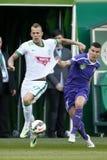 Ferencvaros vs. Ujpest OTP Bank League football match Stock Image