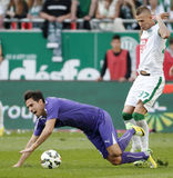 Ferencvaros vs. Ujpest OTP Bank League football match Royalty Free Stock Photography