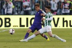 Ferencvaros vs. Ujpest OTP Bank League football match Royalty Free Stock Images