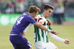 Ferencvaros vs. Ujpest OTP Bank League football match Royalty Free Stock Photo