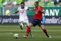 Ferencvaros vs. Videoton OTP Bank League football match Stock Image