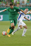 Ferencvaros vs. Zeljeznicar UEFA EL qualifier football match Royalty Free Stock Photo