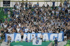 Ferencvaros vs. Zeljeznicar UEFA EL qualifier football match Royalty Free Stock Image