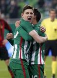 Ferencvarosi TC v布达佩斯Honved -匈牙利橄榄球杯2-1 免版税图库摄影
