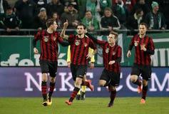 Ferencvarosi TC v布达佩斯Honved -匈牙利橄榄球杯2-1 免版税库存照片