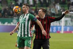 Ferencvarosi TC v Budapest Honved - copo húngaro 2-1 do futebol Imagem de Stock