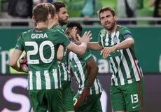 Ferencvarosi TC v DVTK -匈牙利杯2-1 免版税库存照片