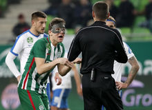 Ferencvarosi TC V MTK Budapest - ungarische OTP-Bank Liga 1-1 Lizenzfreies Stockfoto