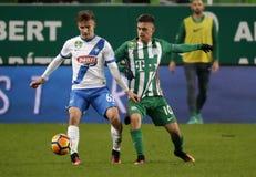 Ferencvarosi TC v MTK Budapest - węgra OTP bank Liga 1-1 Fotografia Royalty Free