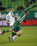 Ferencvarosi TC v MTK Budapest - węgra OTP bank Liga 1-1 Obrazy Stock